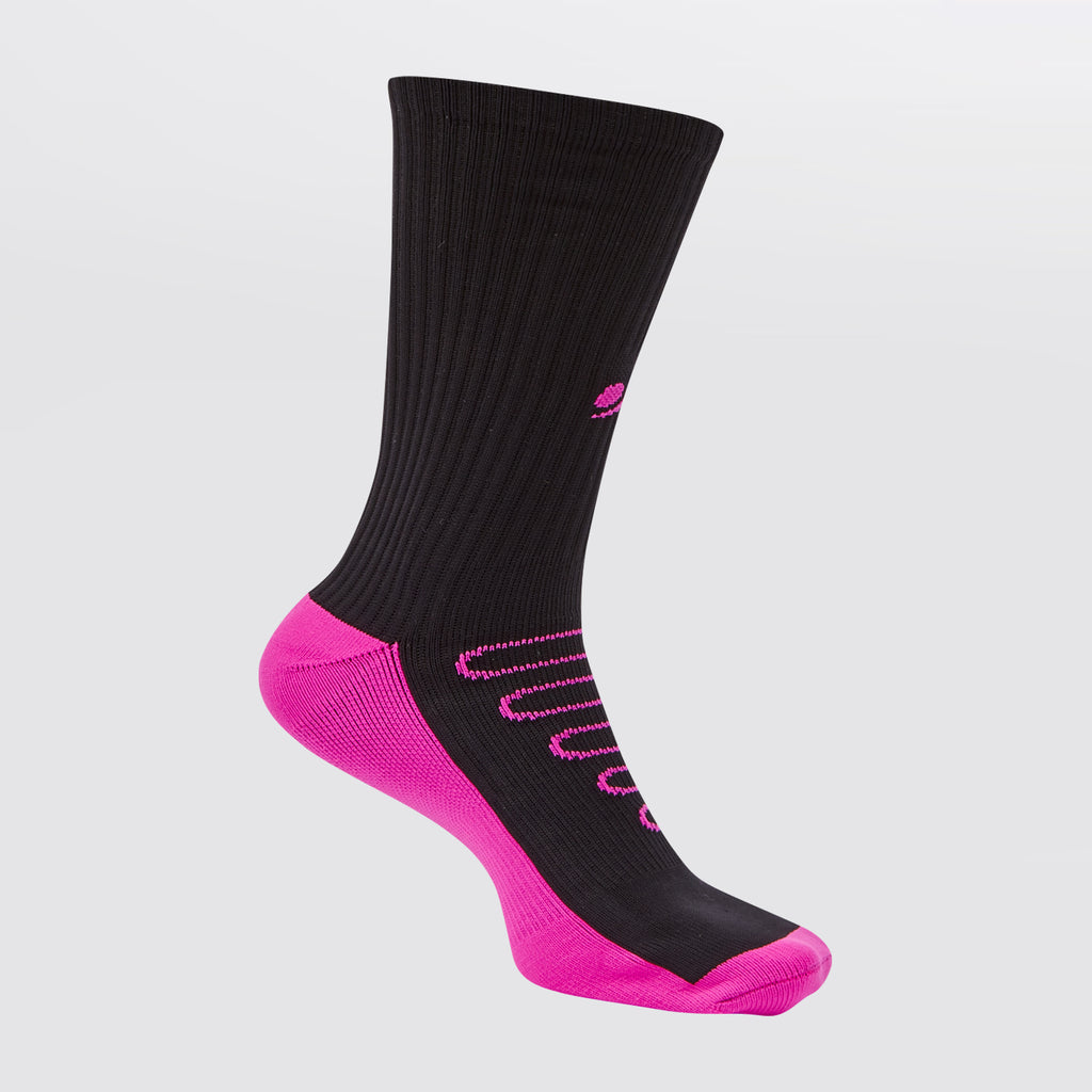 Concave Performance Mid Socks - Black/Pink
