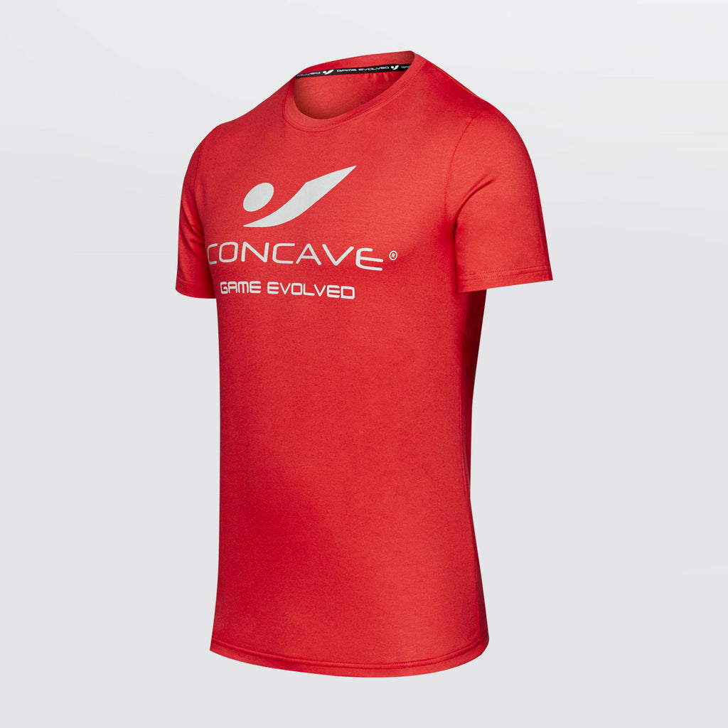 Concave T-Shirt - Red/Silver