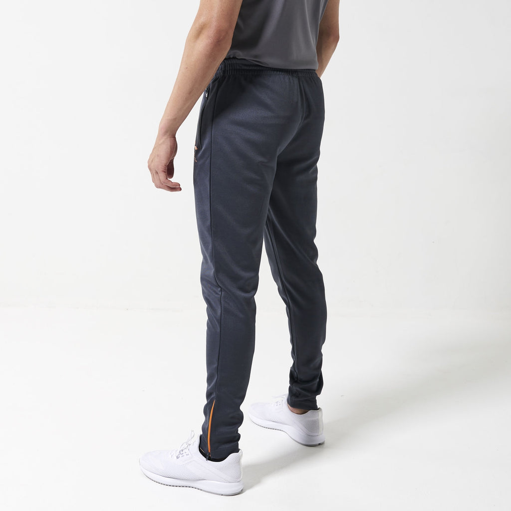 Concave Tracksuit Bottoms - Charcoal/Zest