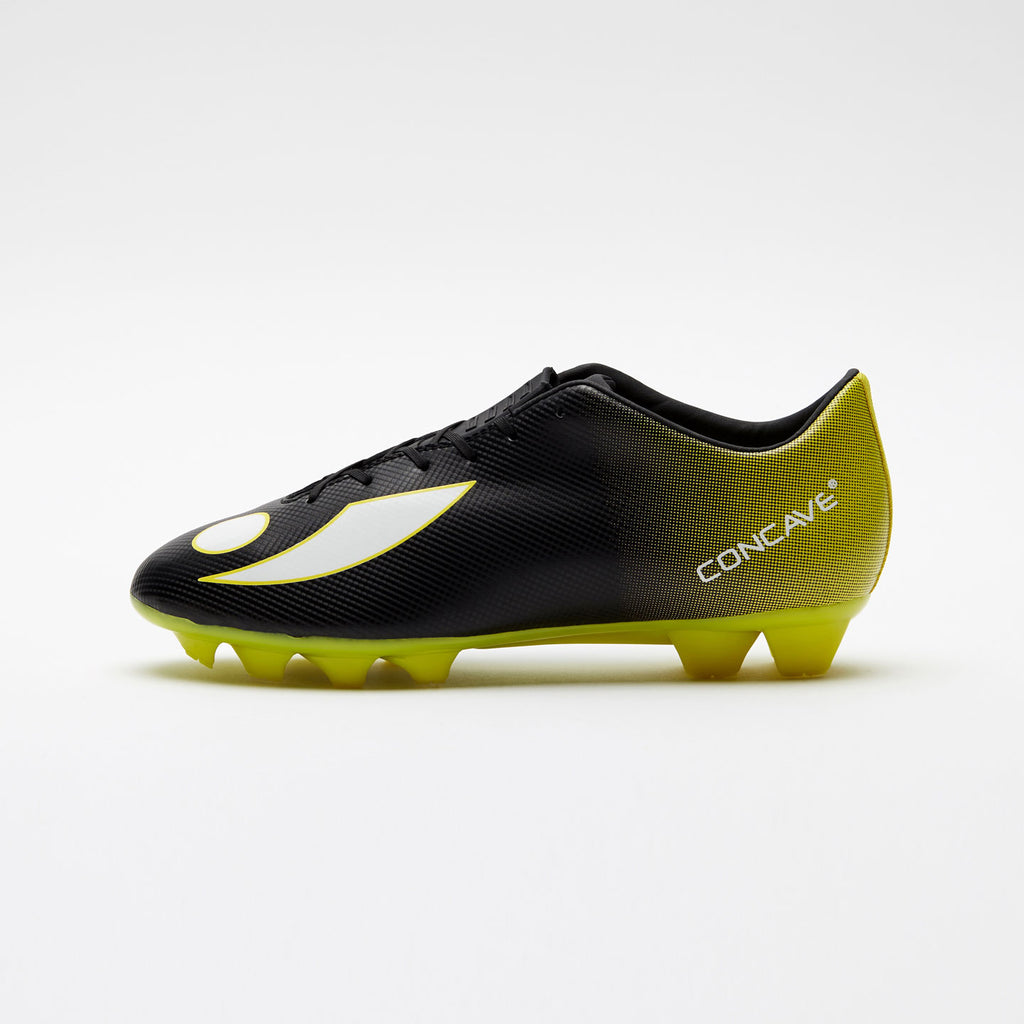 Kids Concave Volt + FG - Black/Neon Yellow