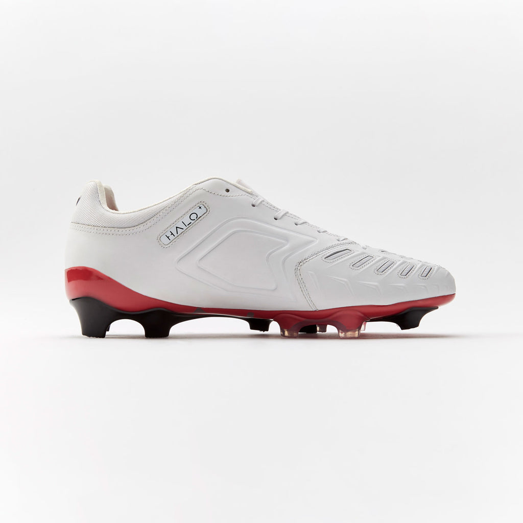 Concave Halo + Leather FG - White/Red