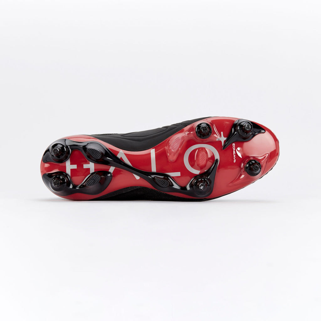 Concave Halo + Leather SG - Black/Red