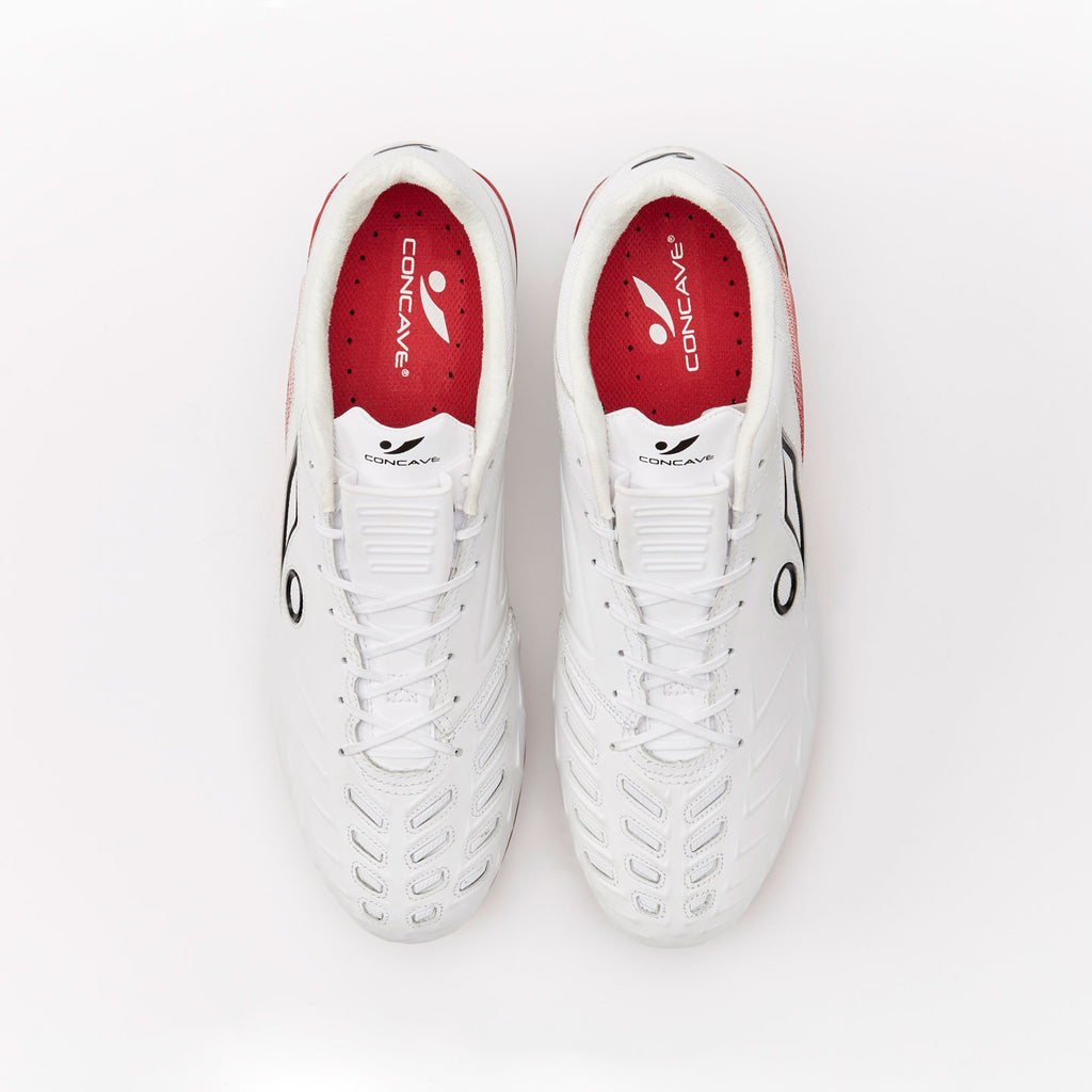 Concave Halo + Leather SG - White/Red