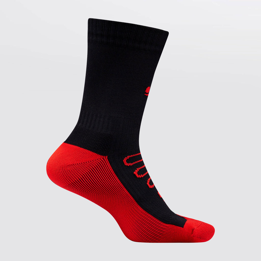 Concave Performance Mid Socks - Black/Red