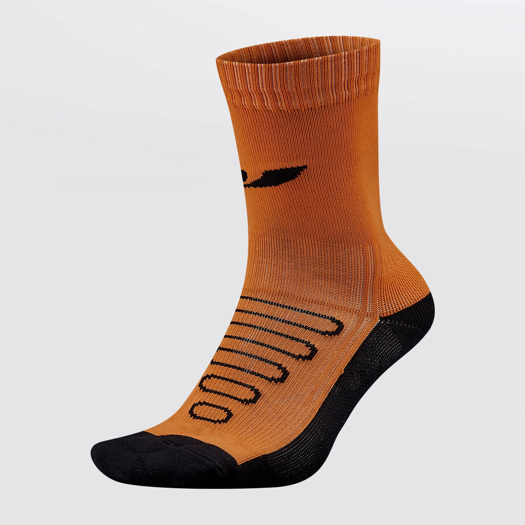 Concave Performance Mid Sock - Orange/Charcoal