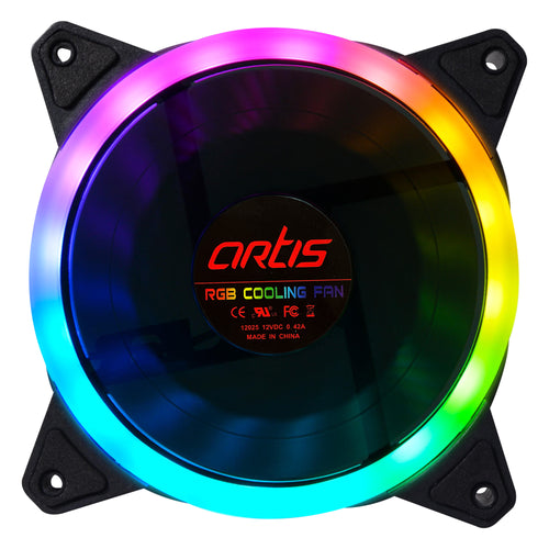 VIP RGB FAN with 120MM Fan with Hydraulic Bearing (Black)