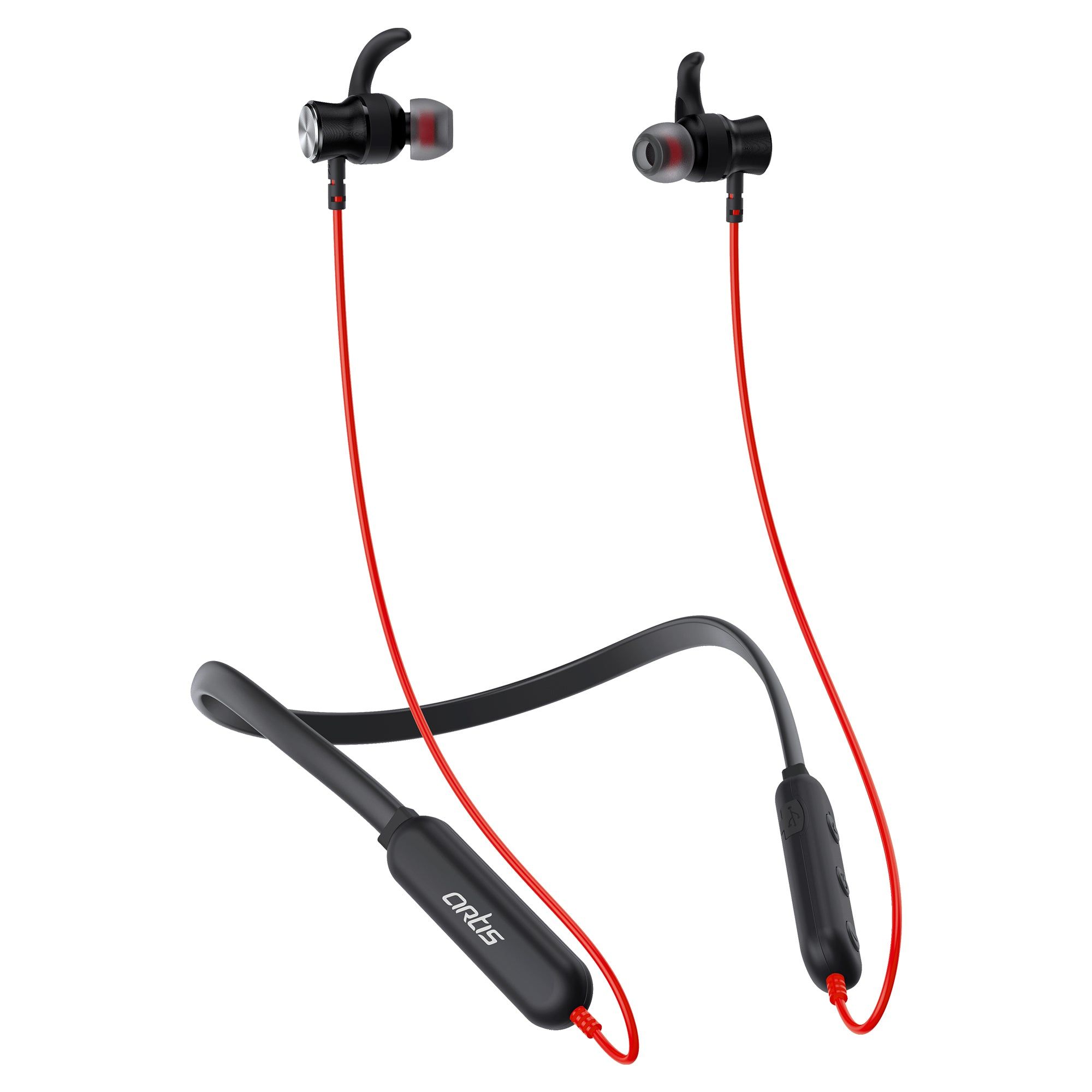 BE930M Red Sports Bluetooth Wireless Neckband Earphone