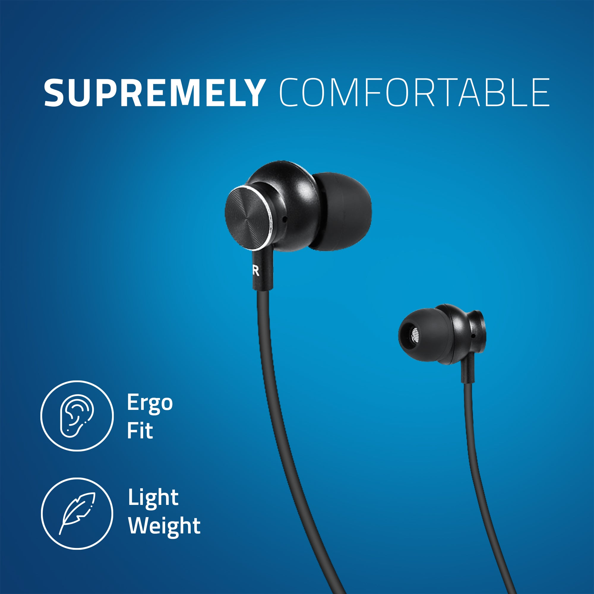 BE310M Artis Bluetooth Wireless Neckband Earphone Supremely Comfortable