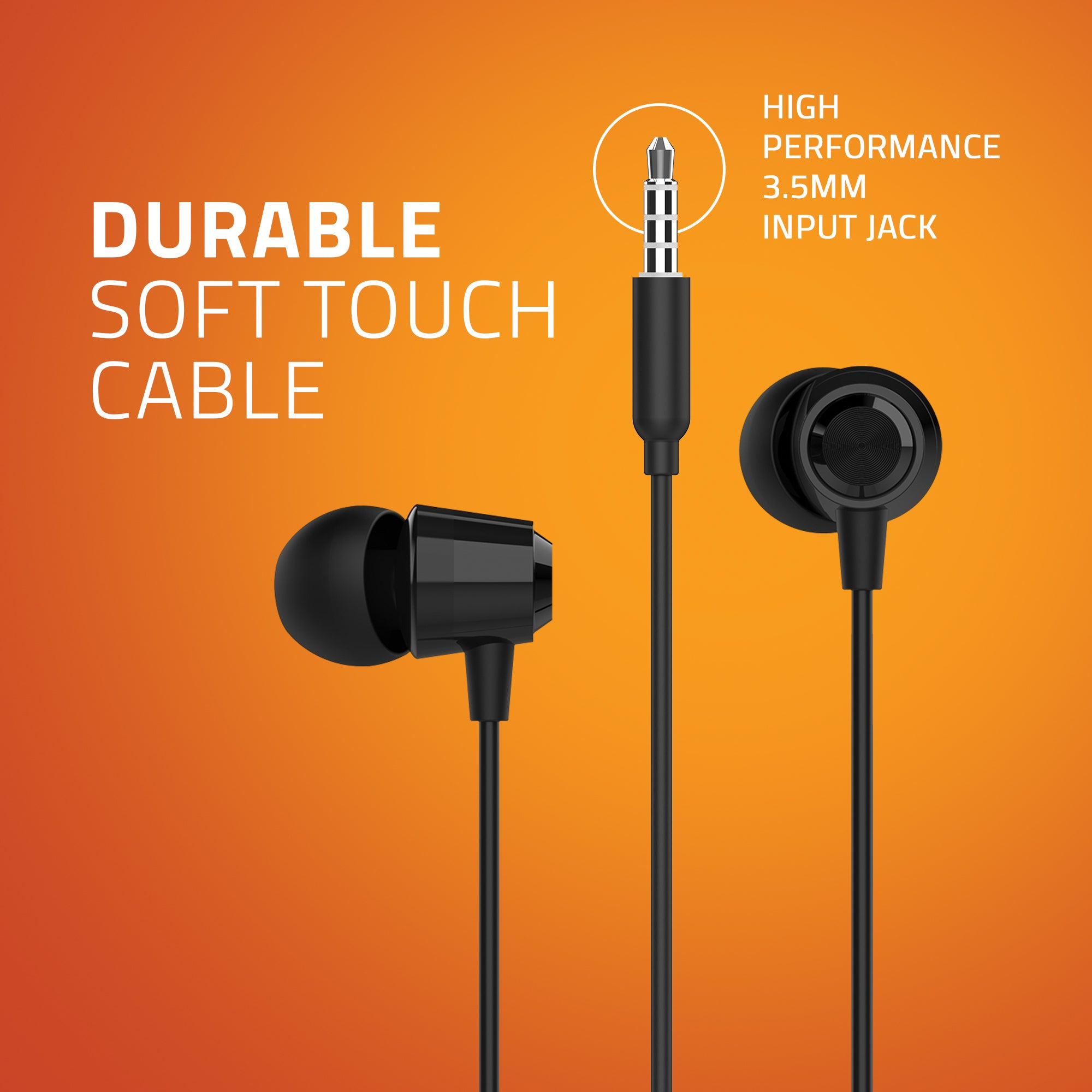 E350M In-ear Wired Earphone with Mic (Black)