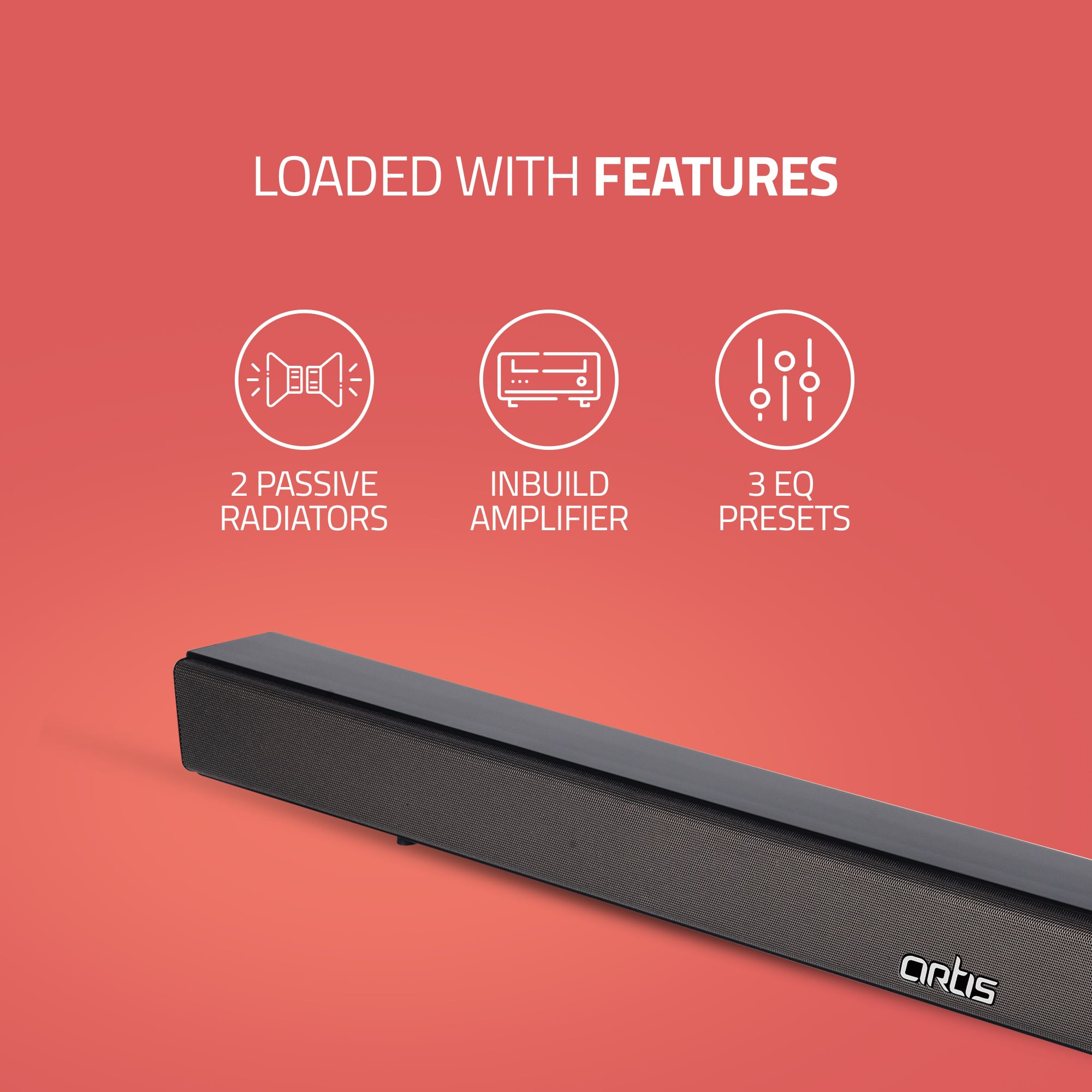 BT-X5 Artis Soundbar - Loaded with Features