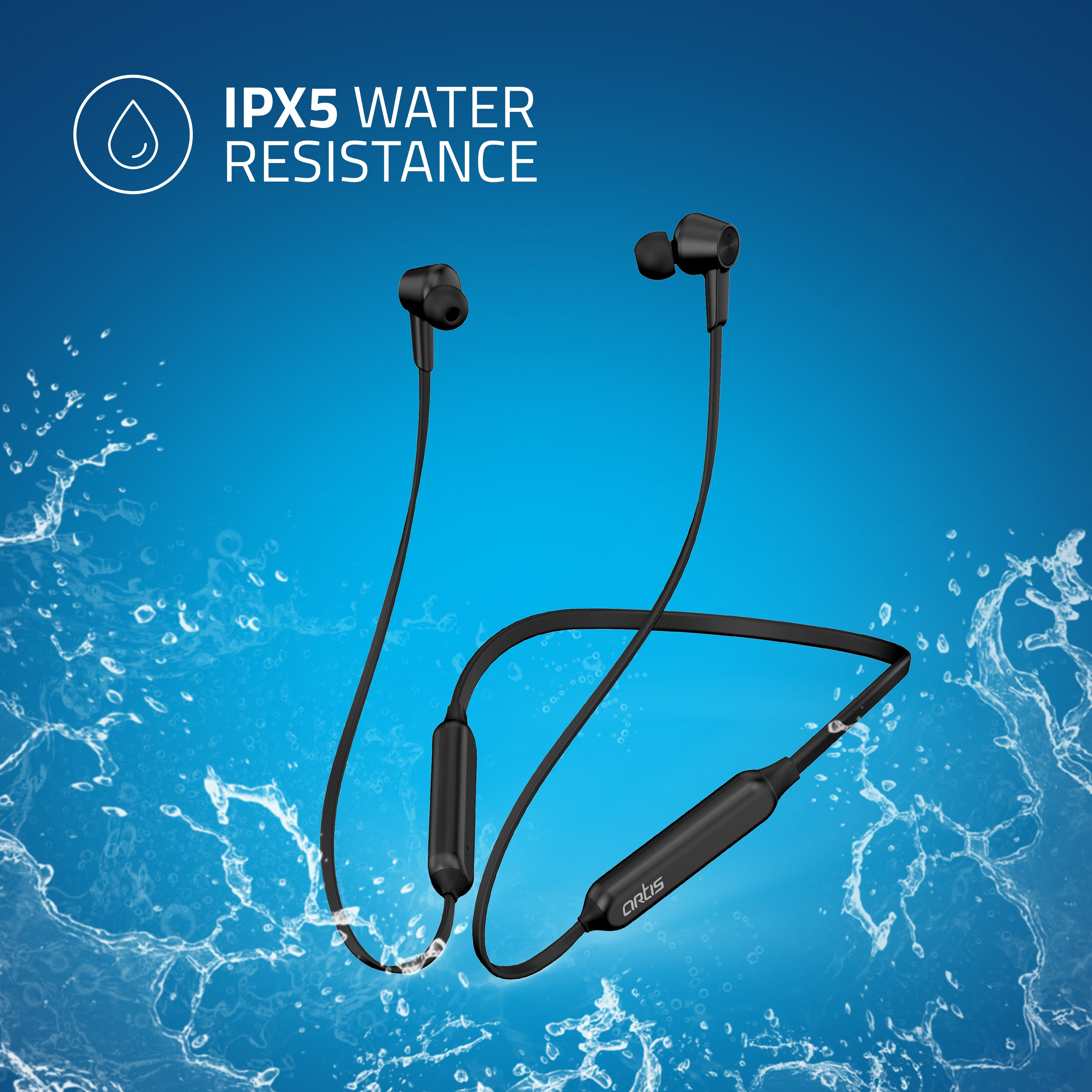 BE990M Sports Bluetooth Wireless Neckband Earphone With Active Noise Cancellation