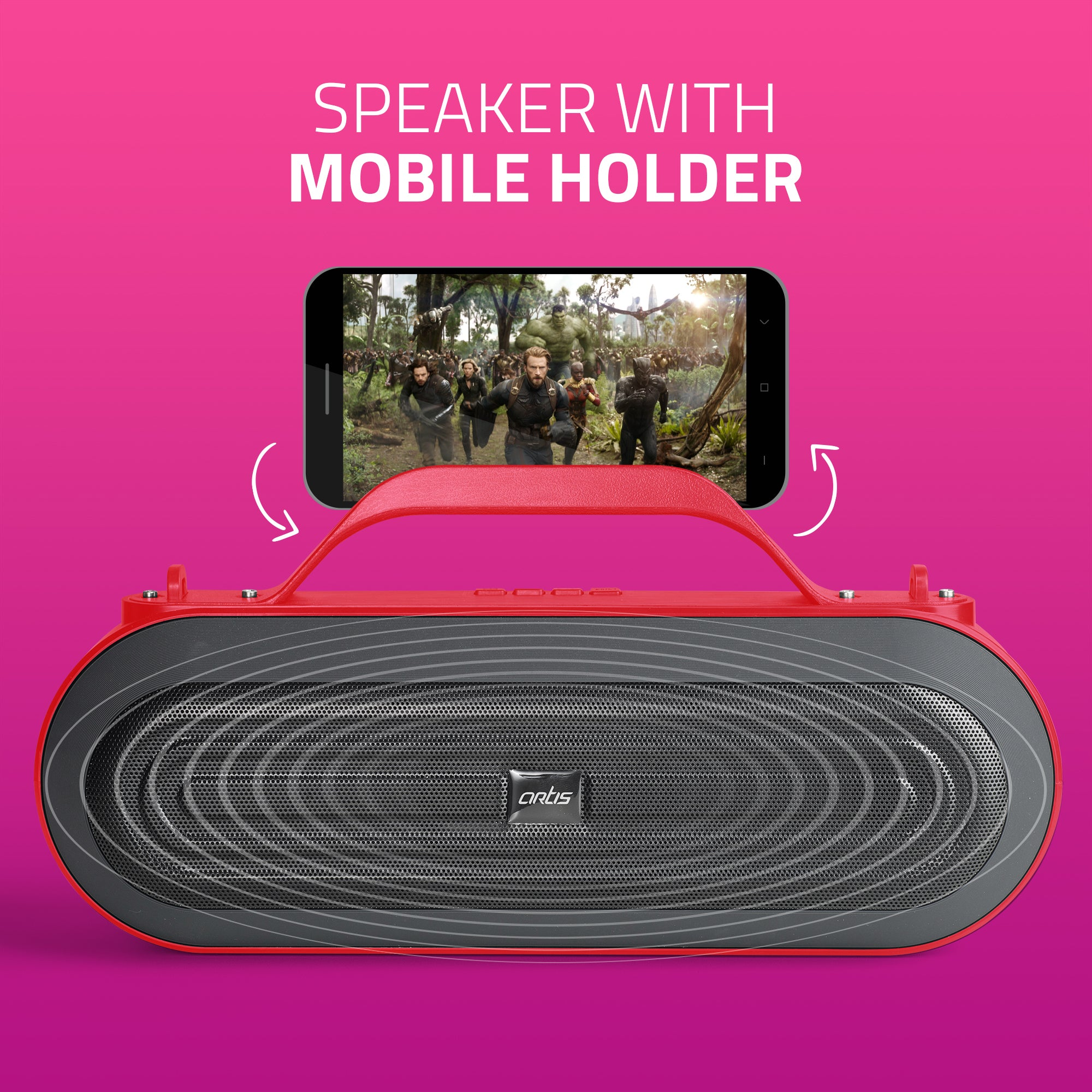 BT09 Red Bluetooth Speaker