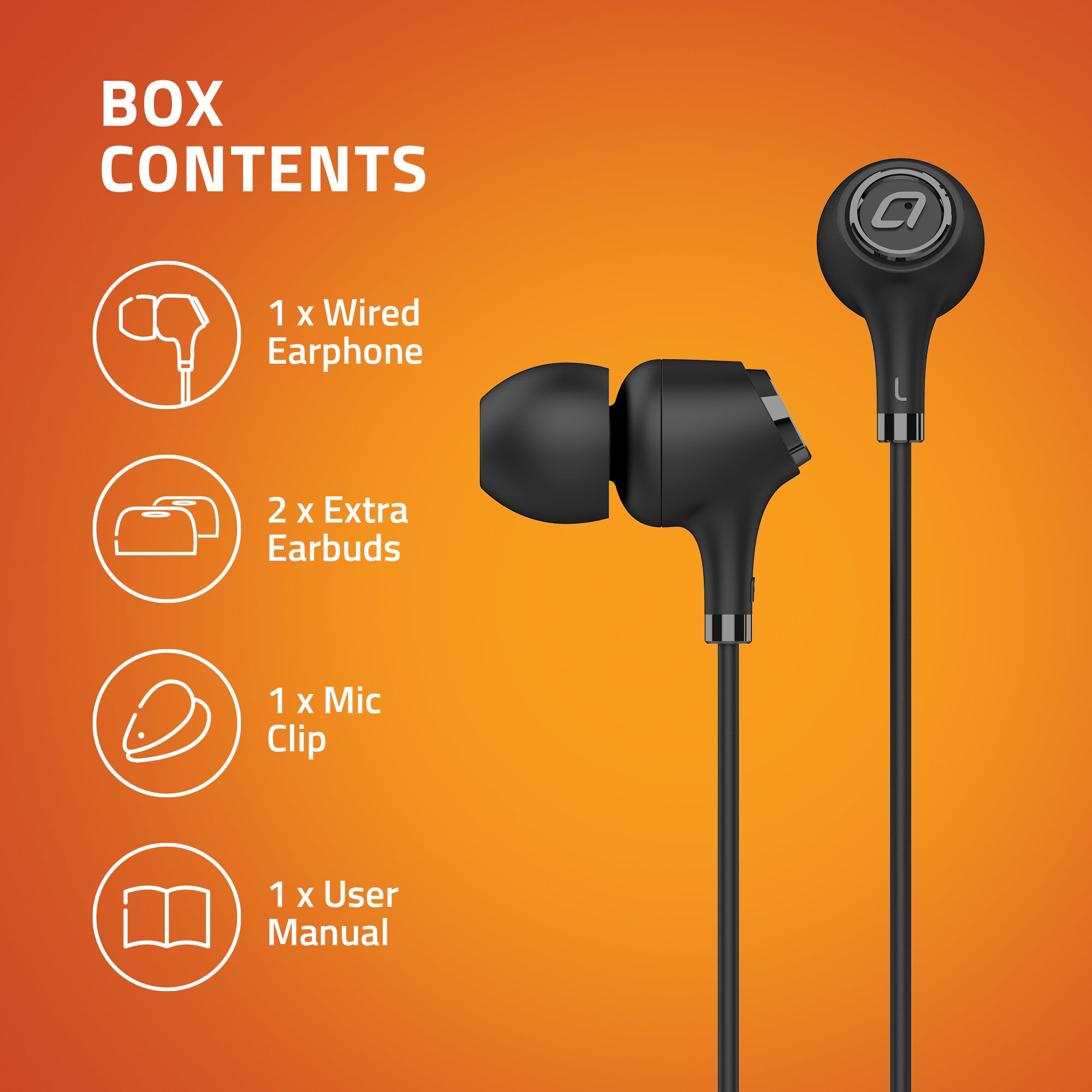 E500M Wired Earphones with Mic