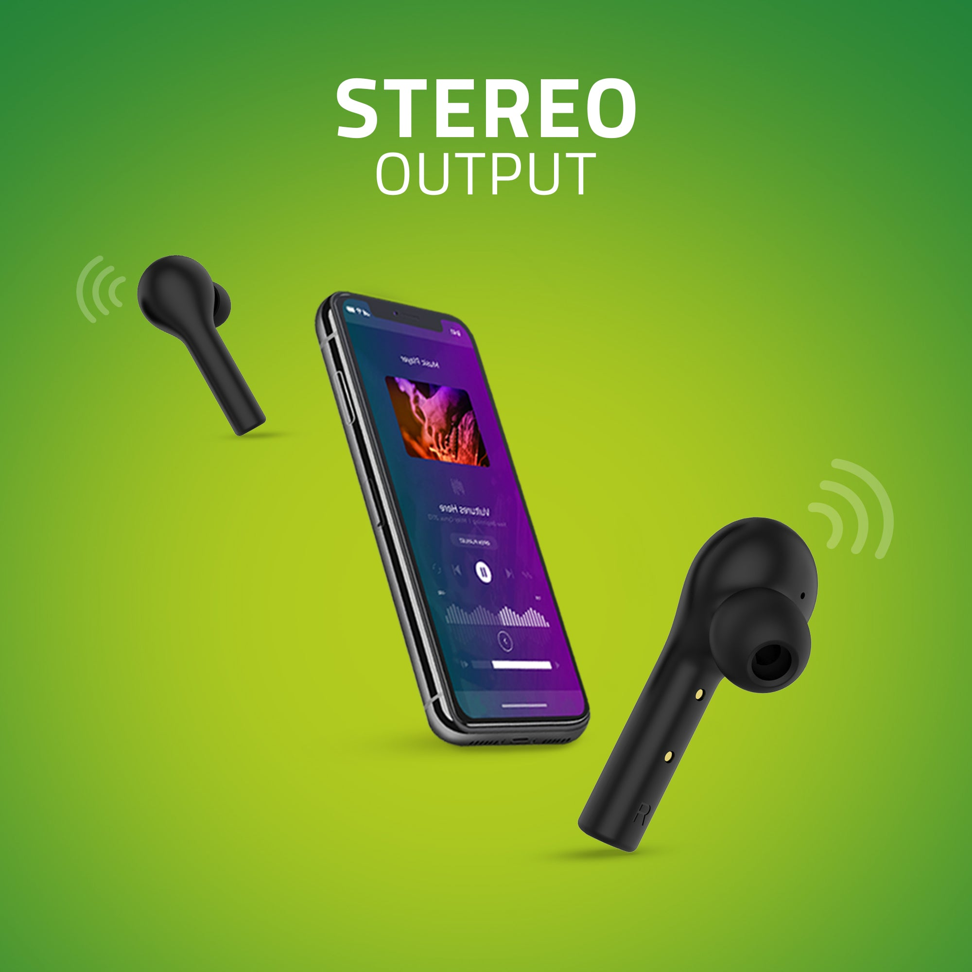 BE110M Artis Stereo Bluetooth Earbuds