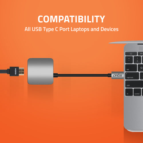 HB100 Artis USB Type C To HDMI Port HUB