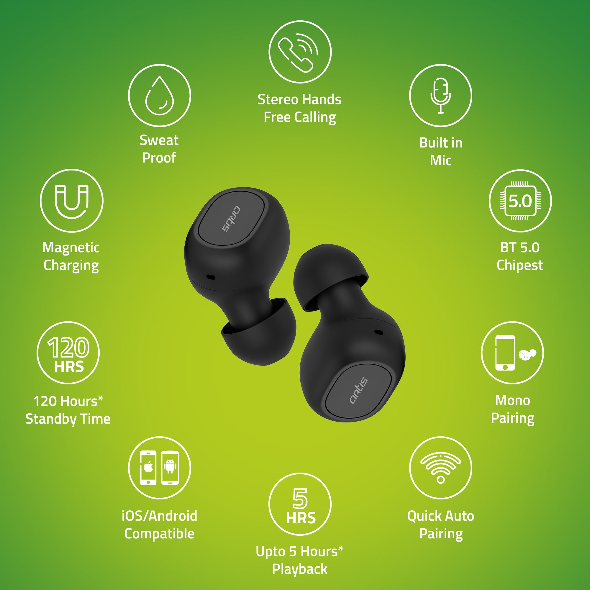 Features of Artis BE410M TWS Earbuds
