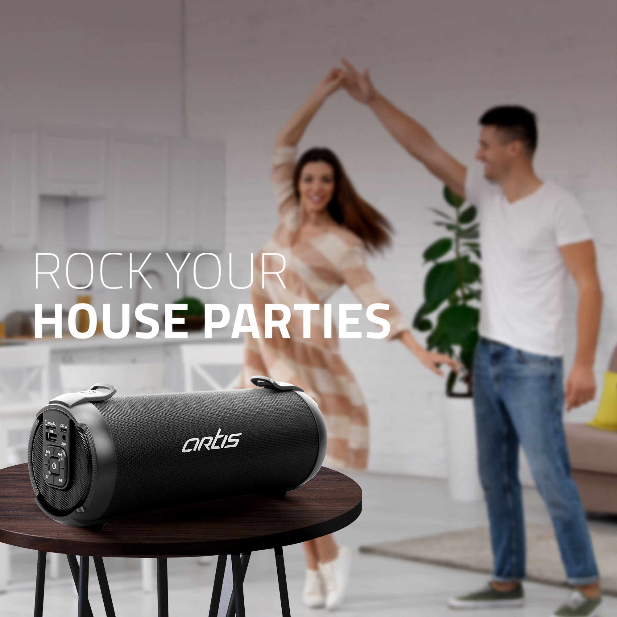 Rock Your House Parties with Artis BT77 Bluetooth Speaker