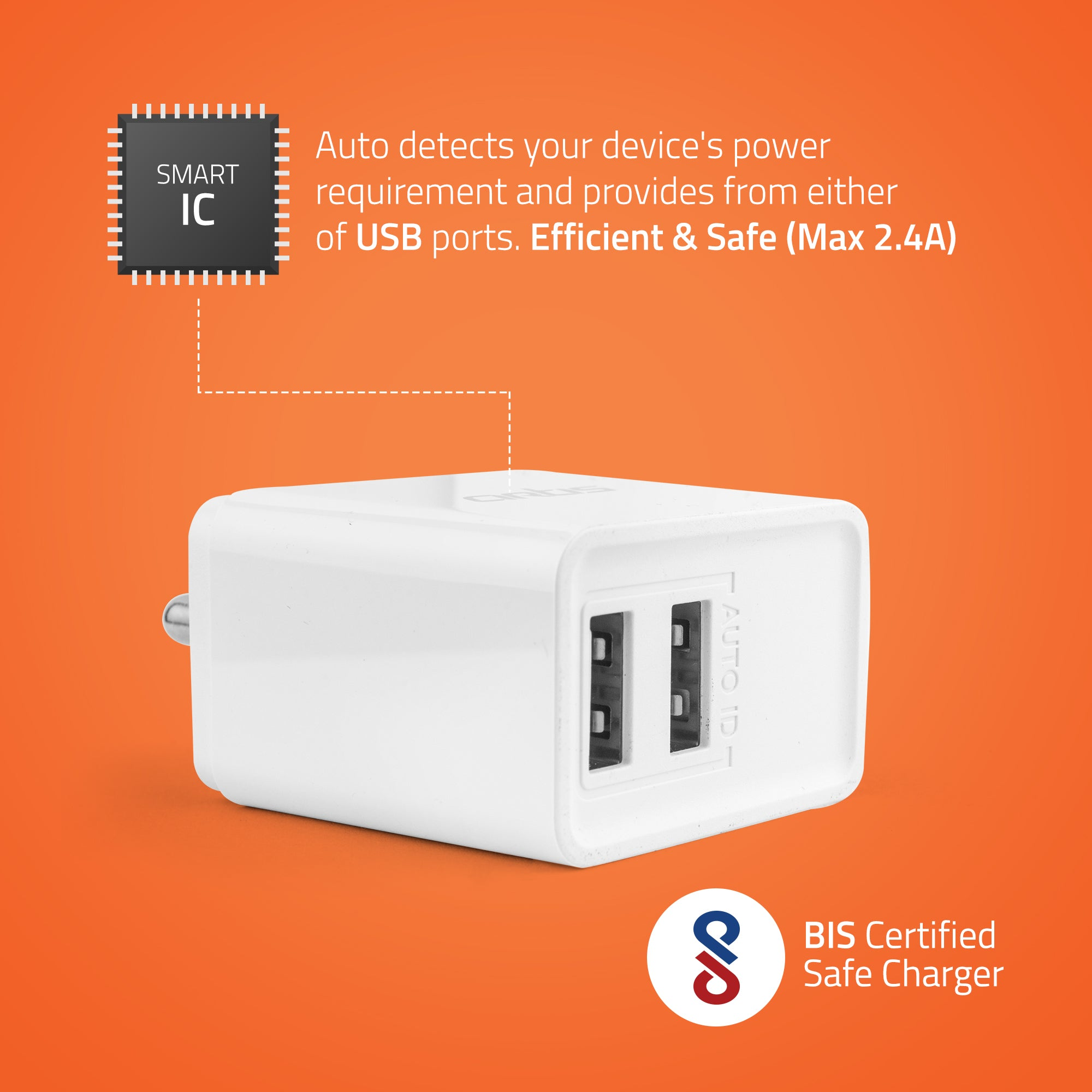 U200 USB Wall Charger with Iphone Cable