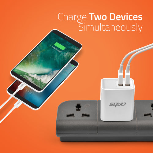U200 Artis USB Wall Charger With Iphone Cable