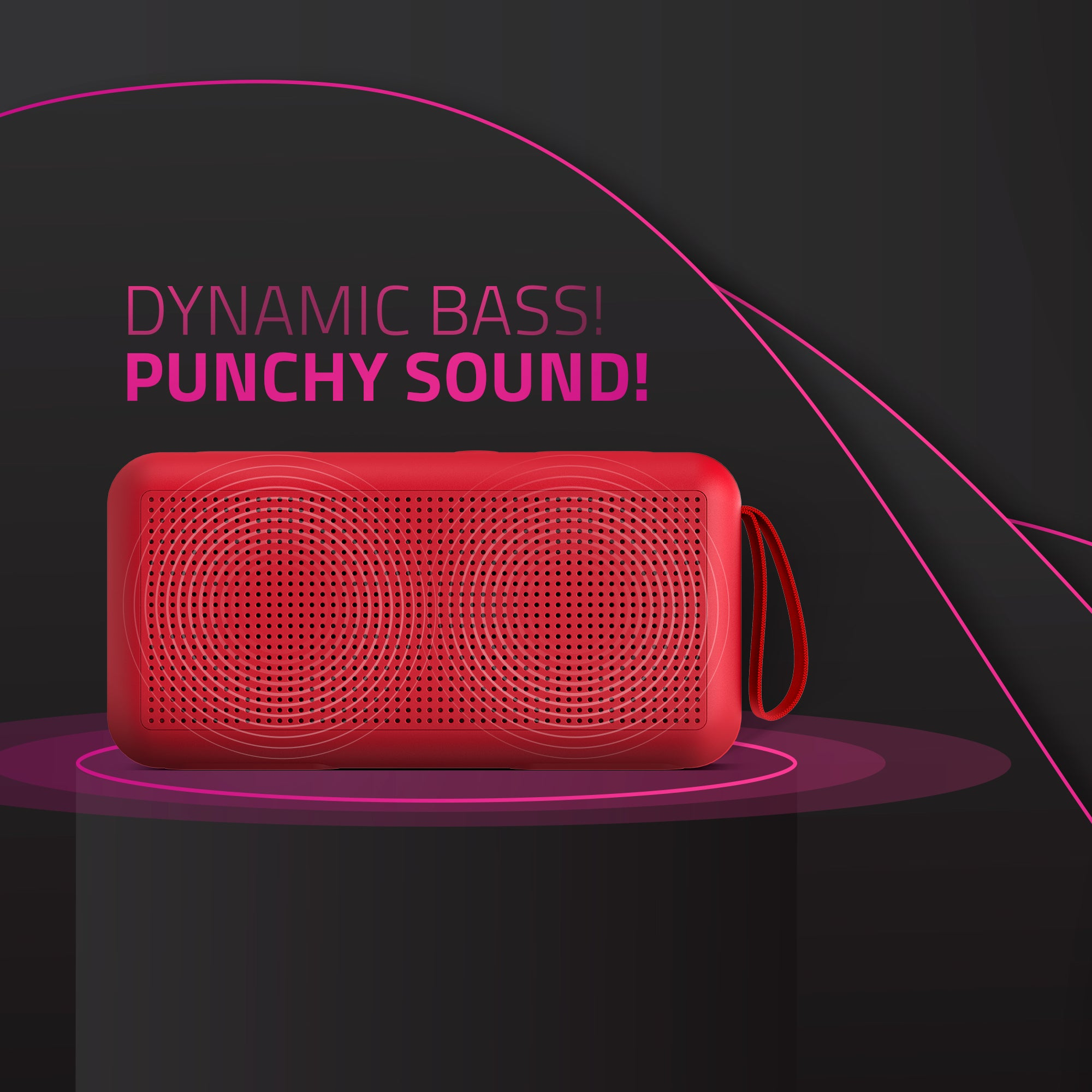 BT05 Red Wireless  Bluetooth Speaker
