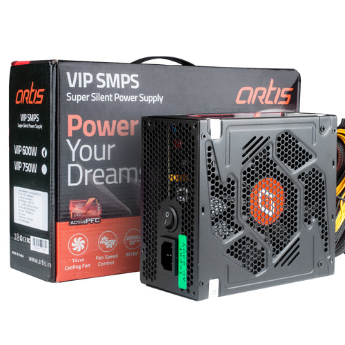 600 Watt Artis Super Silent High Performance Power Supply Unit