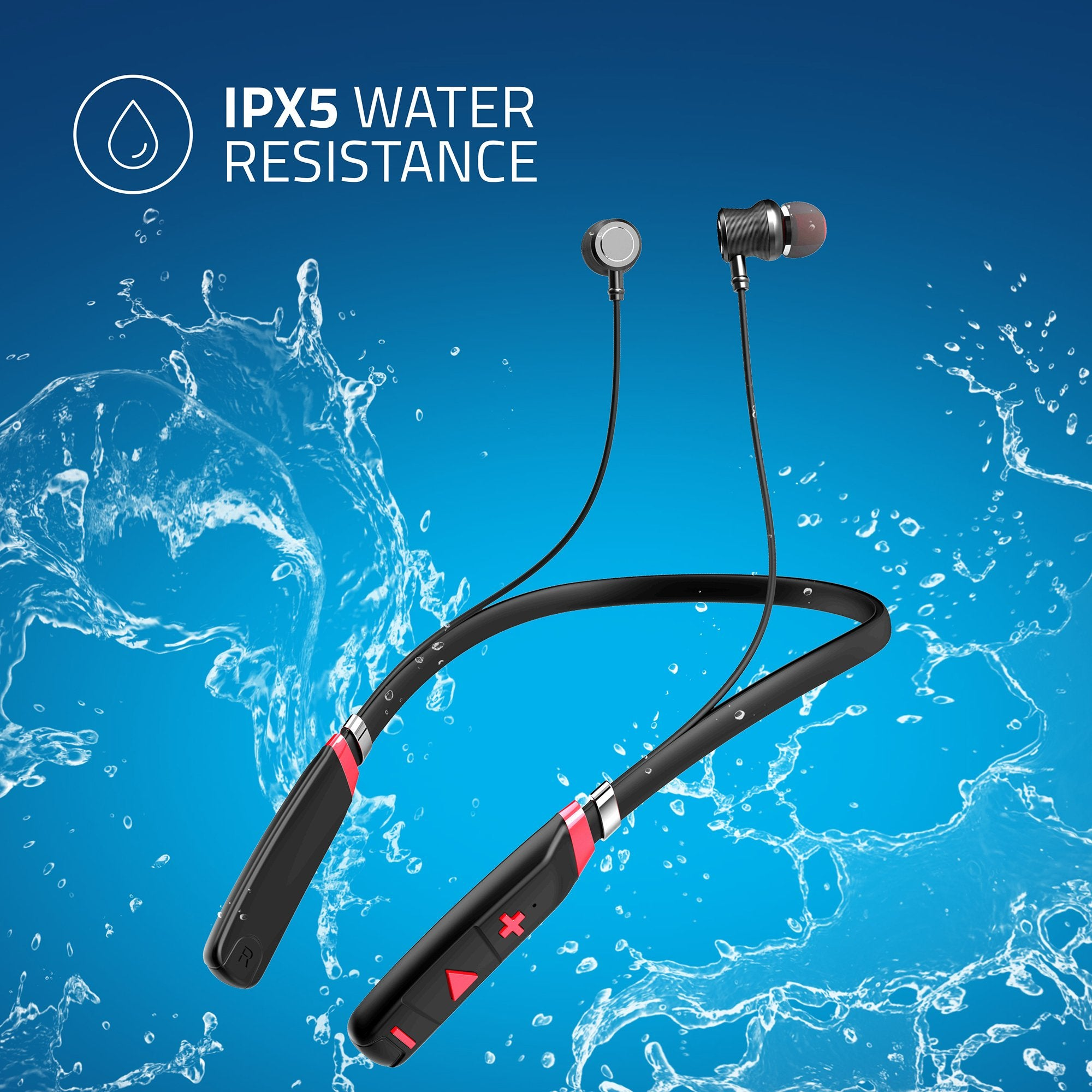 Artis BE910M Sports Bluetooth Wireless Neckband Earphone - IPX5 Certified For Water Resistance