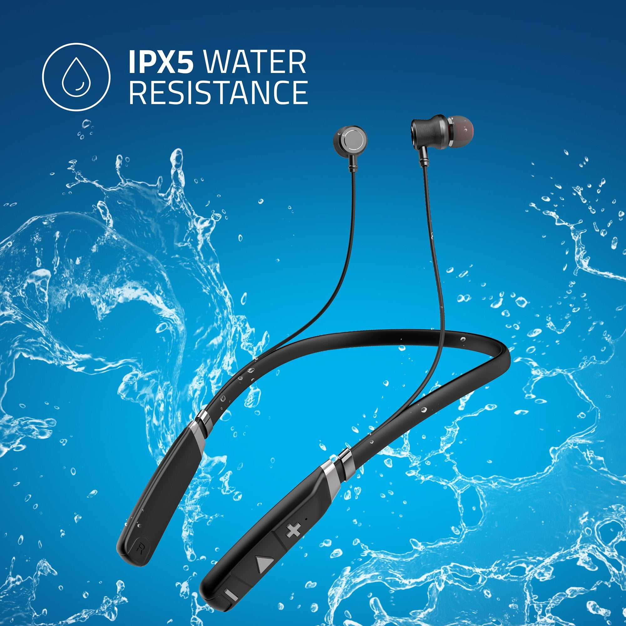 Artis BE910M Sports Bluetooth Wireless Neckband Earphone (Black) - IPX5 Certified For Water Resistance