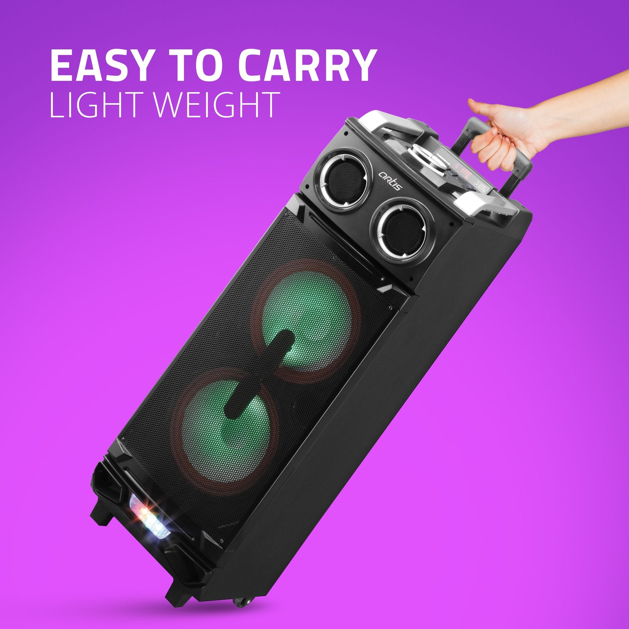 Artis BT900 Bluetooth Trolley Speaker Easy To Carry
