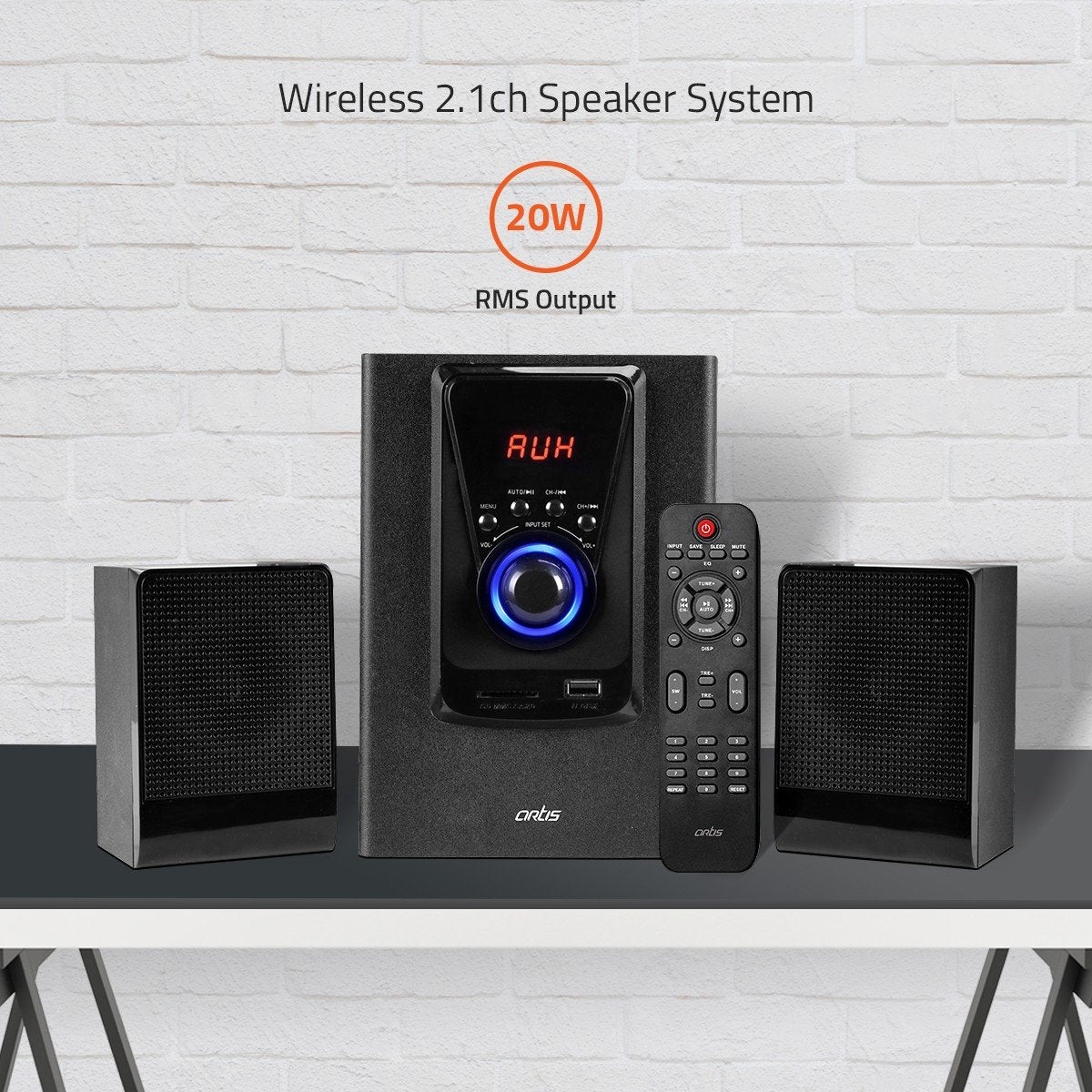 Artis MS201 2.1 Multimedia Speaker System with Superior Bass