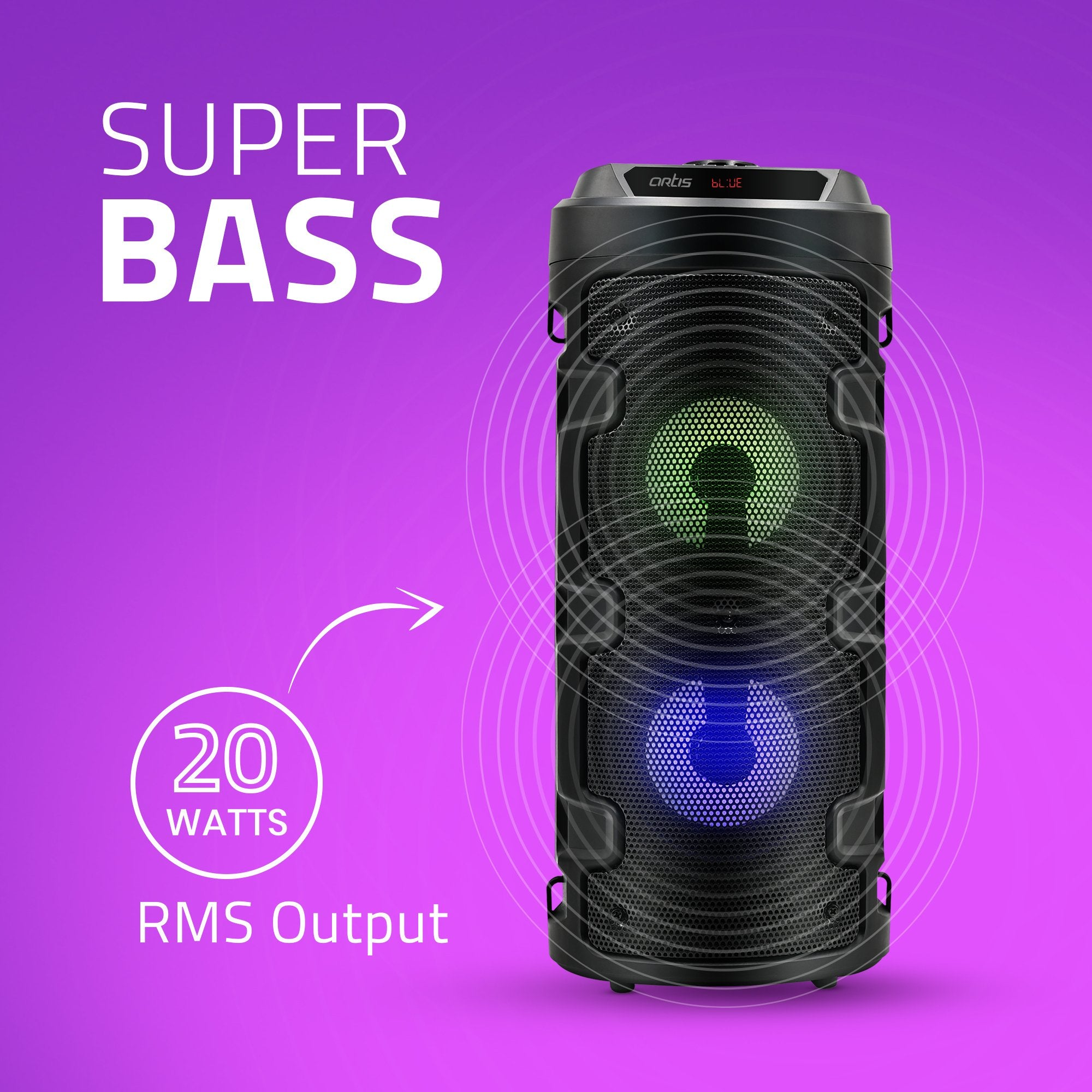 Artis MS301 Bluetooth Party Speaker Super Bass