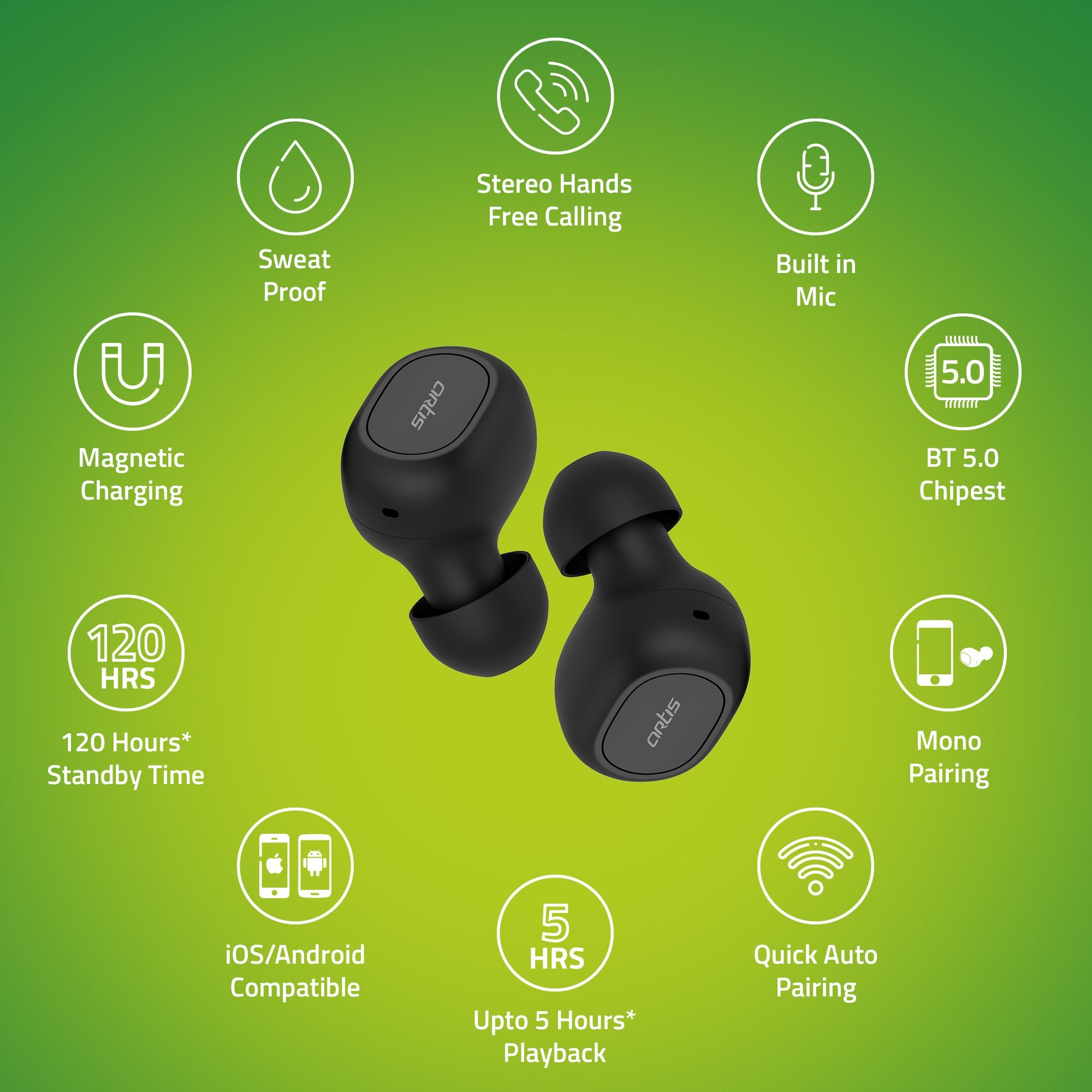 Artis BE810M TWS Earbuds - Features
