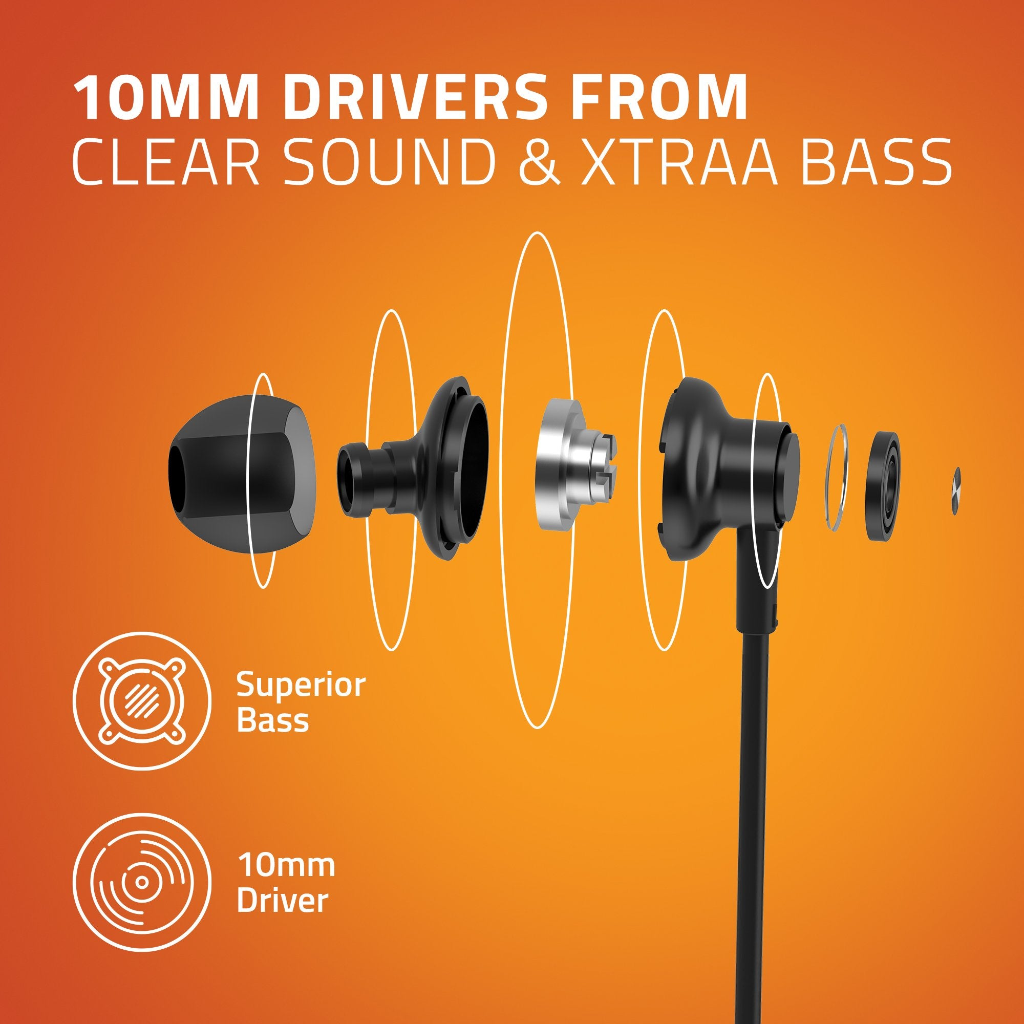 Artis E600M Earphones With Mic - Clear Sound & Xtra Bass