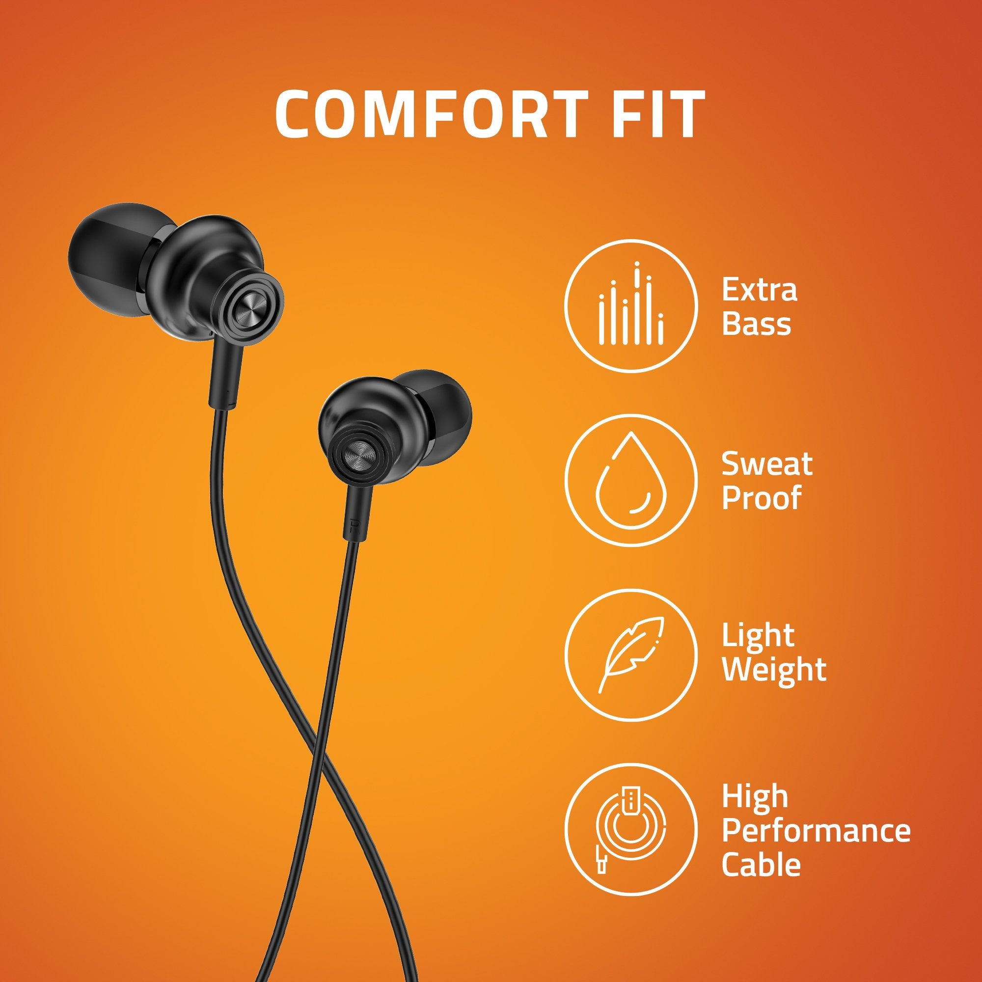 Artis E600M Earphones With Mic - Comfort Fit