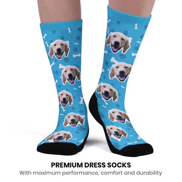 Custom Upgrade Breathable Dog Socks With Your Saying