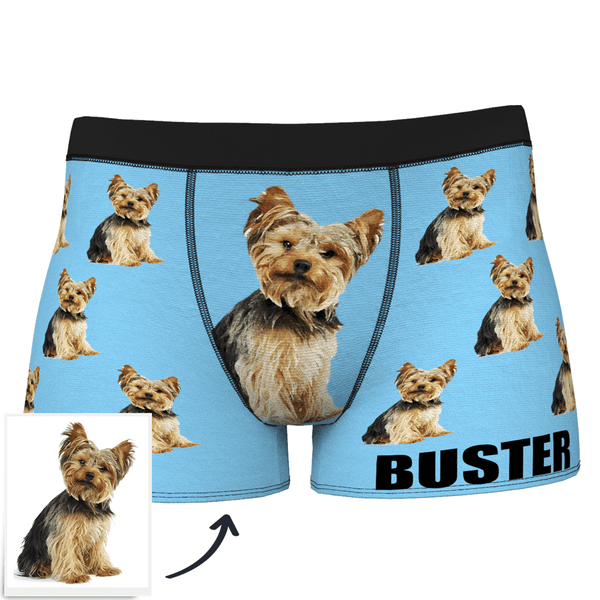 Custom Dog Boxer Shorts Painted Art Portrait - FaceSocksEU