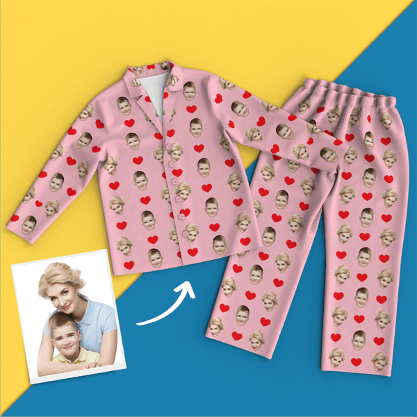 Custom Face Heart Pajamas