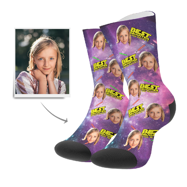 Custom Socks - Best Daughter In The Galaxy