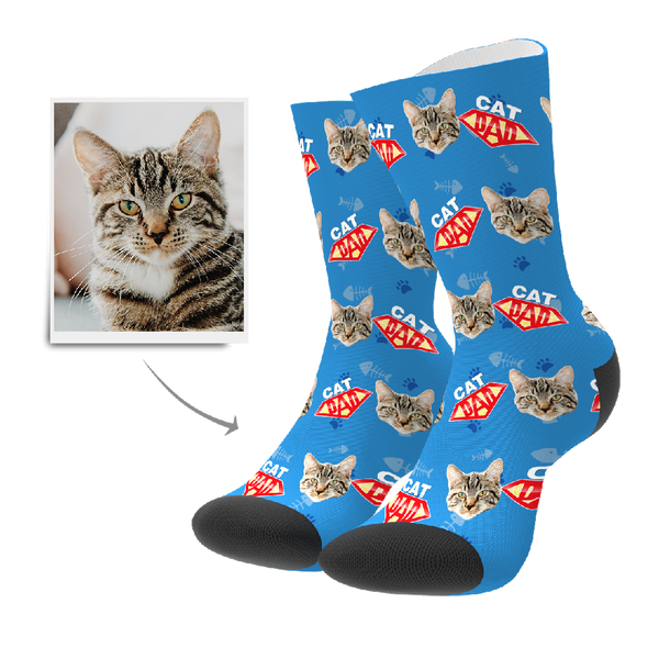 Custom Socks - Cat Dad