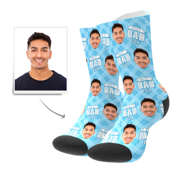 Custom Best Dad Ever Socks With Your Text - FaceSocksEU