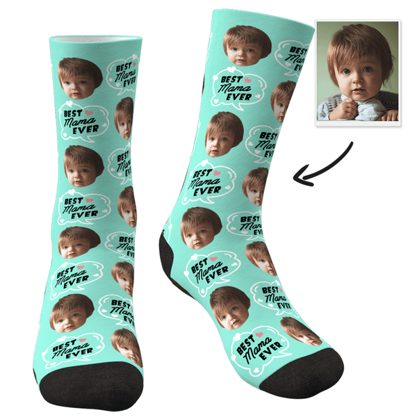 Custom Photo Socks-Best Mom Ever