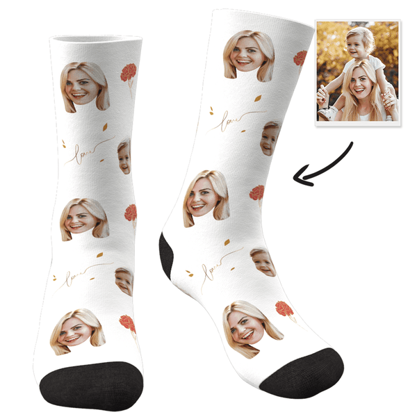 Custom Photo Socks Love - FaceSocksEU
