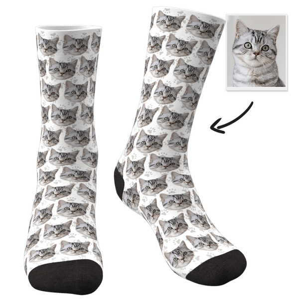 Custom Photo Socks Cat - FaceSocksEU
