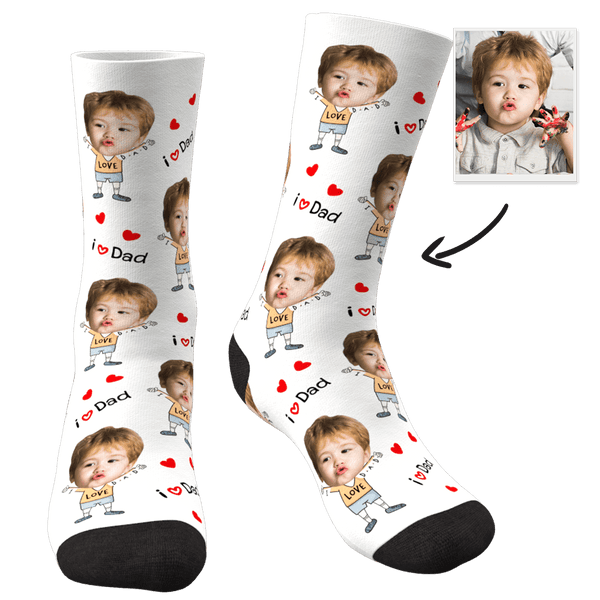 Custom Face Socks To The Dearest Dad-FaceSocksEU
