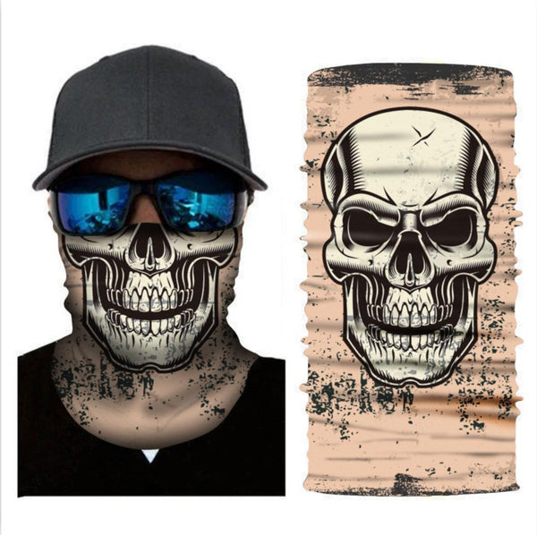 Skeleton Skull Bandana Head Wrap Headband