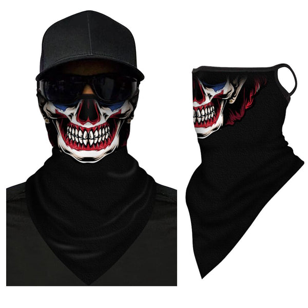 Skull Triangle Bandana Headband Neck Gaiter Cover - FaceSocksEU