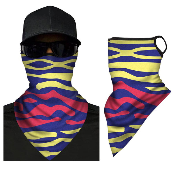 Washable Face Covering Neck Gaiter Neck Warmer Dust-proof Triangle Bandana  - FaceSocksEU