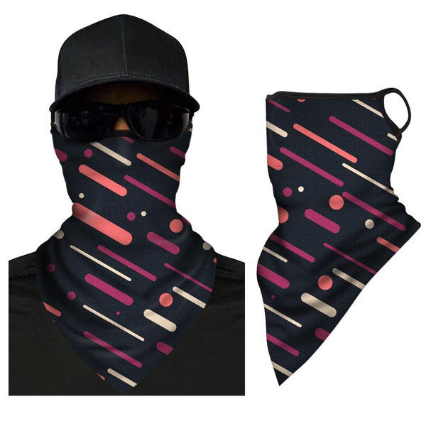 Neck Gaiter Unisex Stretchable Scarf Face Shield Triangle Bandana - FaceSocksEU