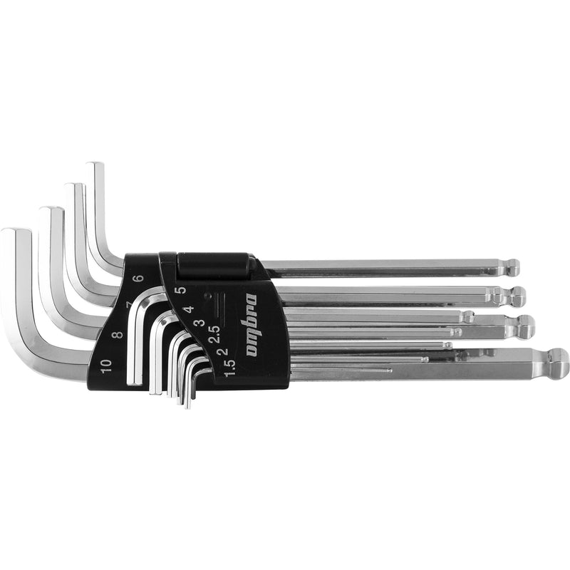Ball point hex key set H1,5 - H10 mm. 10 pcs 952310 Ombra Tools 1