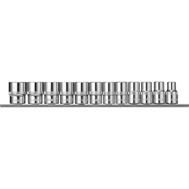 "Socket set, on holder 1/2"" DR 10-24 mm. 12 pcs 912012 Ombra Tools"