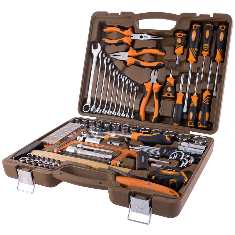 "1/4"" and 1/2"" Tool Set 101 Piece Mechanics, Garage & Household Tools OMT101S Ombra"